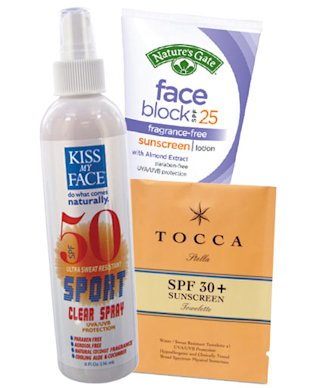 Kiss My Face, Tocca, Nature's Gate SPF