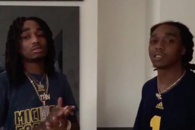 Migos dabbed for Jim Harbaugh and Michigan, who will never lose again