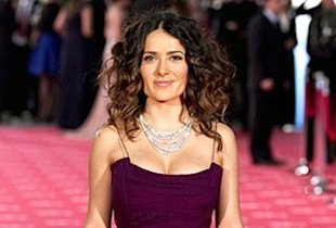 Salma Hayek stuns in figure hugging Gucci