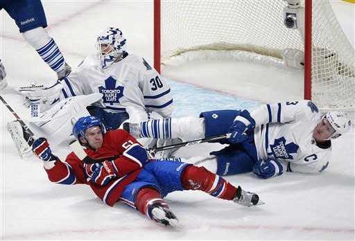 Kadri, Bozak lead Maple Leafs past Canadiens 2-1