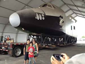 Original 1972 Space Shuttle Mockup Moved for Display