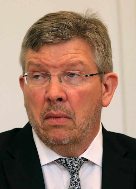 Mercedes principal Ross Brawn is seen prior to the hearing at the FIA headquarters in Paris