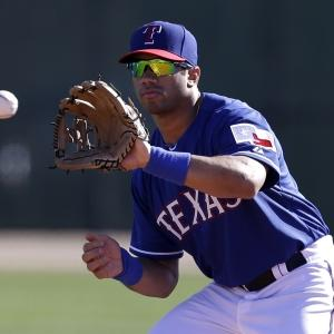 Russell Wilson Spends Day With Texas Rangers
