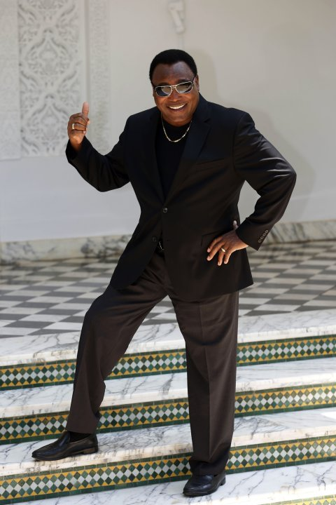 Singer George Benson of the U.S. poses for a photocall for the 12th Mawazine World Rhythms international music festival in Rabat