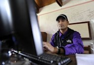 Former Nepalese Maoist fighter Mahesh Bogati attend a computer class at the Jiri Technical Institute. &quot;I spent several years as a fighter in the war. During those years, all I learned is how to lay an ambush and make bombs and improvised devices,&quot; Bogati told AFP