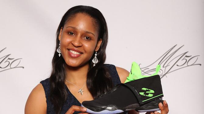 IMAGE DISTRIBUTED FOR JORDAN BRAND - Jordan Brand athlete, Maya Moore, is seen at the Jordan Brand party celebrating Michael Jordan's birthday on Friday, February 15, 2013 in Houston, TX.  The Jordan Brand launched its Air Jordan XX8 in Houston on the same day.  (Photo by Omar Vega/Invision for Jordan Brand/AP Images)
