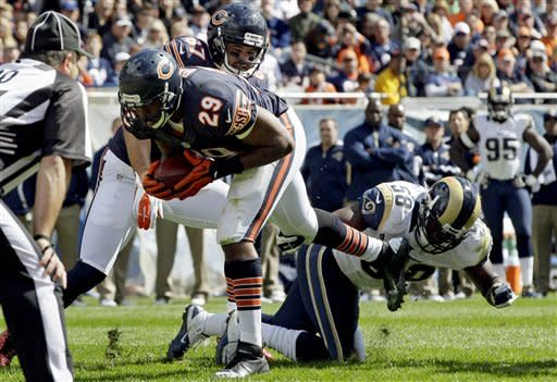 Wright returns INT for TD, Bears beat Rams 23-6