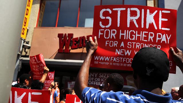 Fast Food Workers Strike One-Day Nationwide for a Living Wage