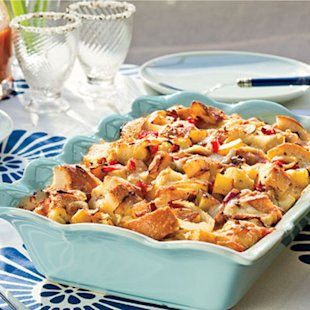 Brie-and-Veggie Breakfast Strata
