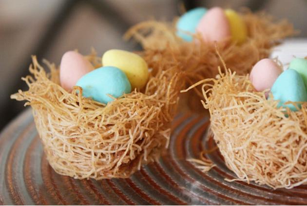 Cinnamon Phyllo Easter Nests