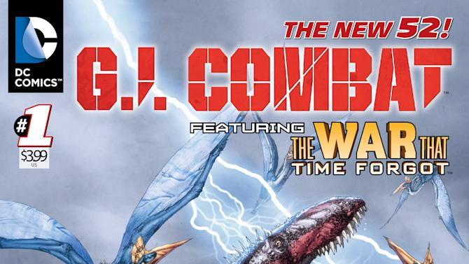 """This image provided by DC Comics shows the cover of the first issue of G.I. Combat. More than eight months after upending its classic superheroes and ongoing titles, DC Entertainment is bringing more titles to readers this week, including a contemporary take on its classic war comic """"G.I. Combat."""" The book is one of six new titles hitting shelves Wednesday that include new takes on the Justice Society, """"Dial H For Hero"""" and heroines Power Girl and Huntress, among others. (AP Photo/DC Comics)"""