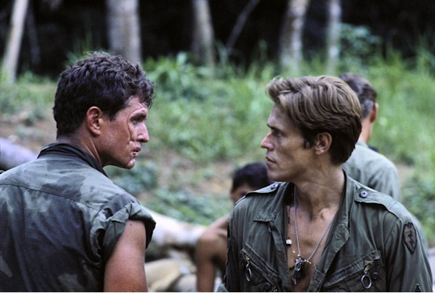 Tom Berenger Willem Dafoe Platoon Production Stills MGM 1986