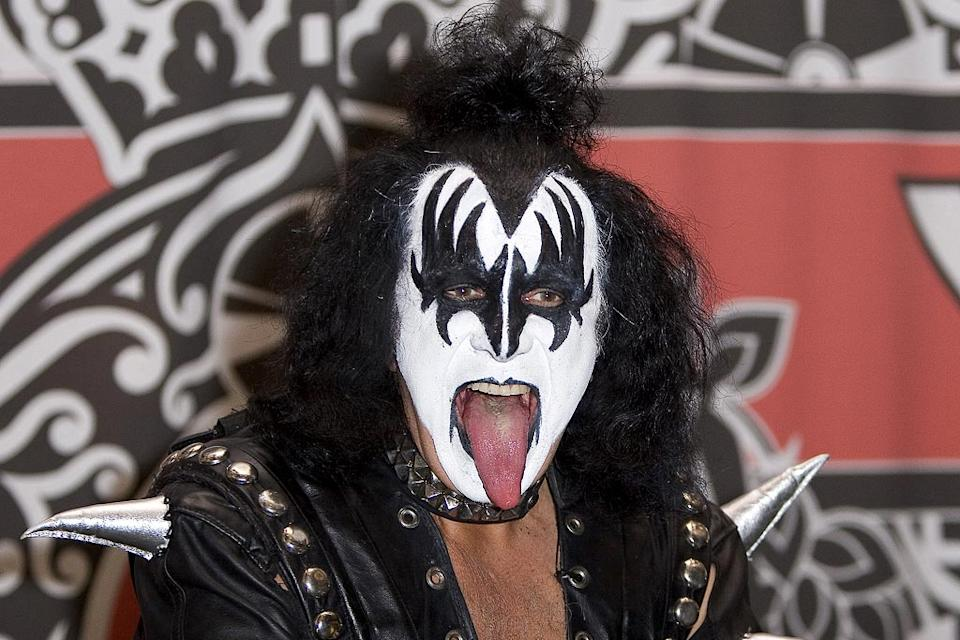 "Gene Simmons of KISS at the ""Kissology Vol. 1 1974-1977"" DVD Signing at Virgin Megastore."