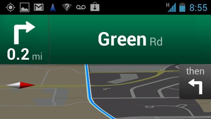 In this undated screenshot, the Google Maps application  is demonstrated on an Android. An Associated Press review shows that Google Maps for iPhone is strong on directions, but lacks features of the Android version. (AP Photo/Google)