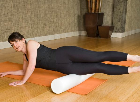Try a foam roller to relieve aching muscles