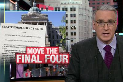 Keith Olbermann demands NCAA pull Final Four from Indianapolis to protest 'religious freedom'law