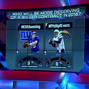 New York Giants quarterback Eli Manning or San Diego Chargers quarterback Philip Rivers: Who deserves a contract extension more?