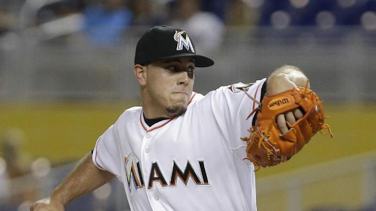 Fernandez whiffs 14 as Marlins beat Indians 10-0