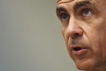 Mark Carney, Governor of the Bank of England, speaks during the bank's Financial Stability Report news conference in London