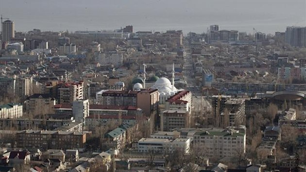 An aerial view of the Dagestan capital of Makhachkala March 24, 2012 (Reuters)