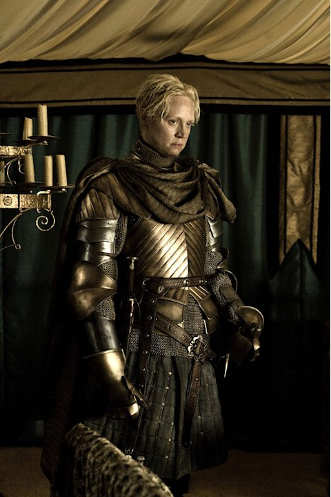 "Gwendoline Christie as Brienne in ""Game of Thrones."""