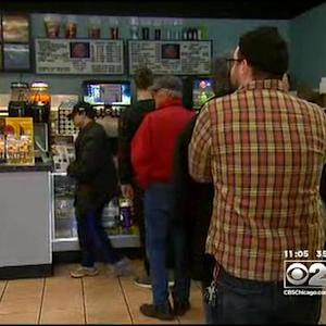 "Moviegoers Line Up To See ""The Interview"""