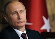 Russian President Vladimir Putin on December 3 in a press conference with the Turkish prime minister in Istanbul. Putin on Monday suggested Russia should revive the Hero of Labour title, a highly-coveted Soviet-era award established in the early years of the USSR to mobilise workers and increase output