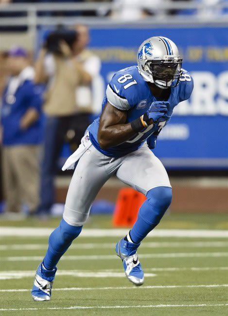 FILE - In this Dec. 22, 2012, file photo, Detroit Lions wide receiver Calvin Johnson (81) runs during an NFL football game in Detroit. Johnson met with reporters Monday, May 20, 2013, and confirmed he