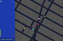 This screen shot made Tuesday, March 31, 2015 shows the Times Square area of New York in Pac-Man form on Google Maps. Google added the option to convert its popular navigation service into the Pac-Man video game in celebration of April Fools' Day. (AP Photo/Google Maps)