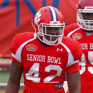 Stephone Anthony is making a name for himself at the 2015 Reese's Senior Bowl