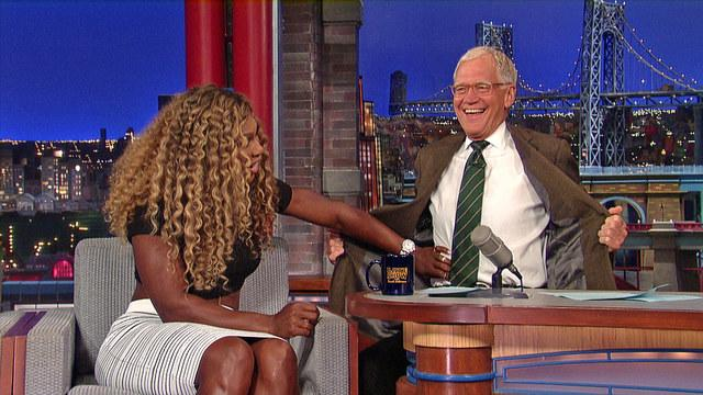 Serena Williams and David Letterman on NYC Tennis Fans