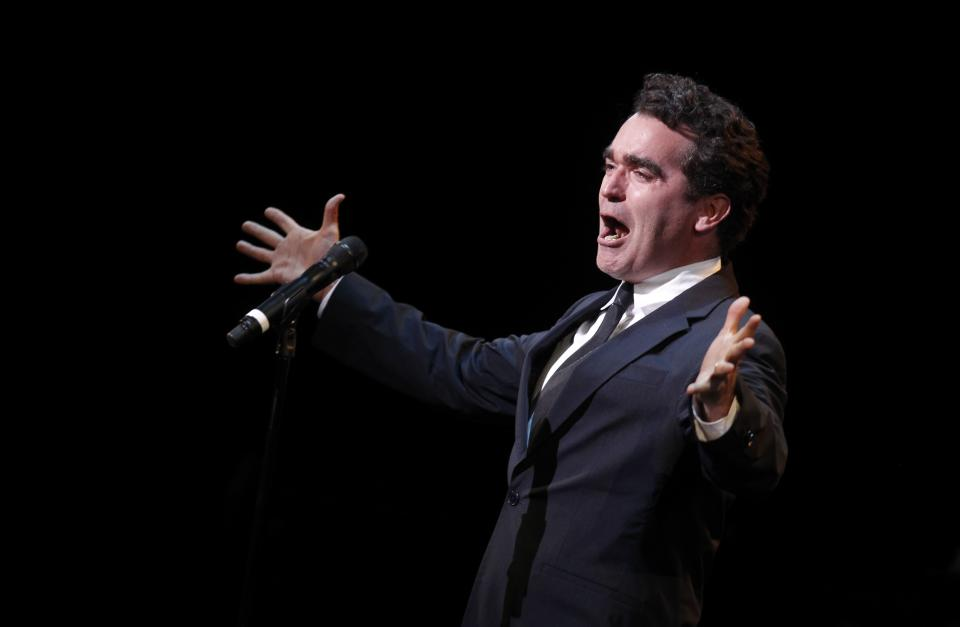 Brian d'Arcy James performs during A Tribute to Marvin Hamlisch, a memorial concert, at The Juilliard School's Peter Jay Sharp Theater, Tuesday, Sept. 18, 2012 in New York. (Photo by Jason DeCrow/Invision/AP Images)
