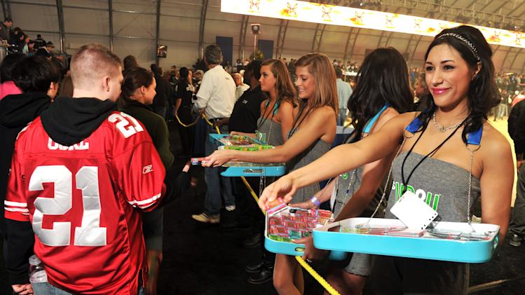 UP2U Gum At DIRECTV Celebrity Beach Bowl 2012