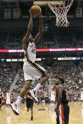 Rookie Burks, dunk champ Evans lift Jazz 96-94