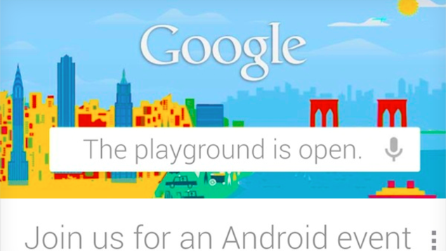 Google will be holding an Android event on October 29th in New York City