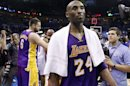 Los Angeles Lakers guard Kobe Bryant leaves the floor after the Oklahoma City Thunder defeated the Lakers 106-90 in Game 5 in their NBA basketball Western Conference semifinal playoff series, Monday, May 21, 2012, in Oklahoma City. (AP Photo/Sue Ogrocki)