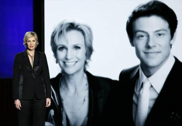Jane Lynch speaks onstage during the 65th Annual Primetime Emmy Awards held at Nokia Theatre L.A. Live on September 22, 2013 in Los Angeles -- Getty Images