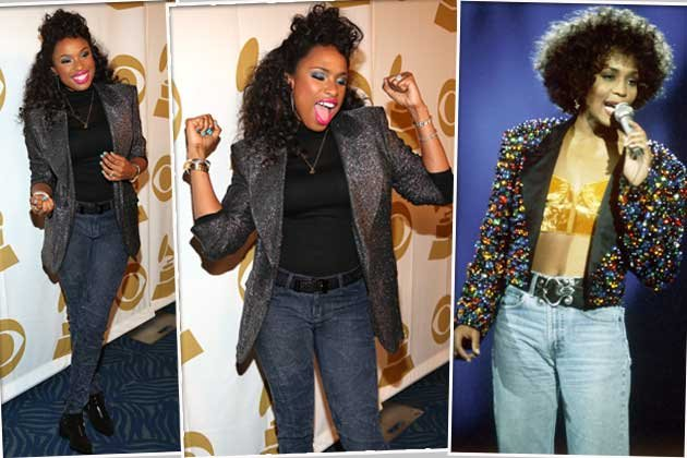 Jennifer Hudson im Whitney-Houston-Gedächtnislook! (Bilder: Getty images, REX)