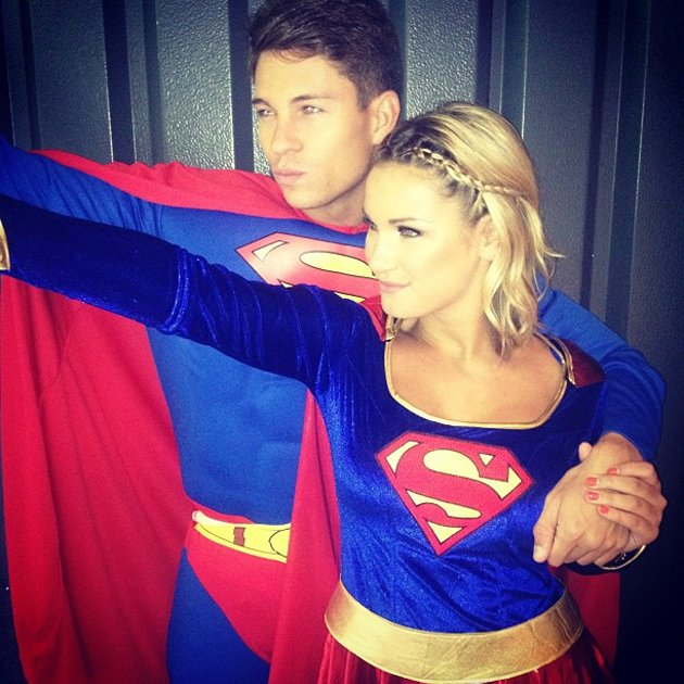 Celebrity photos: TOWIEs Sam Faiers and Joey Essex decided to dress up as super heroes for a trip to Alton Towers. As you do.