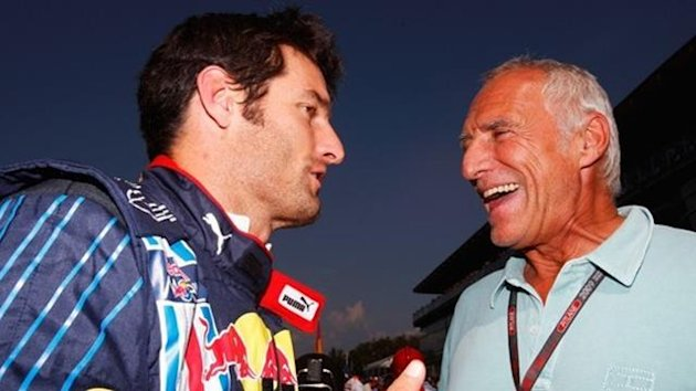 2010 Red Bull Dietrich Mateschitz and Mark Webber