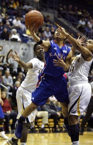 No. 8 California women beat No. 19 Kansas 88-79