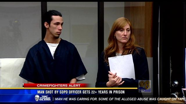 Man shot by SDPD officer gets 22+ years in prison