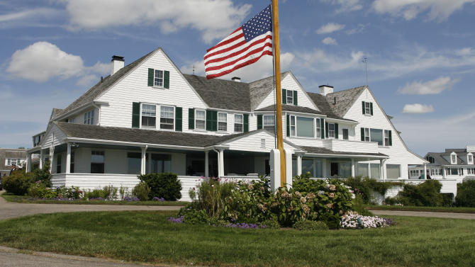 FILE - This Aug. 27, 2009 file photo shows the main home in the Kennedy family compound in Hyannis Port, Mass. While it has been mostly unused since Sen. Edward Kennedy died two years ago, the Kennedys will gather there Friday, July 15, 2011 for the wedding of former Rhode Island Rep. Patrick Kennedy. The senator's will said he wanted the property turned over to the Edward M. Kennedy Institute for the United States Senate, which has caused a division among family members over its fate. (AP Photo/Stew Milne, File)
