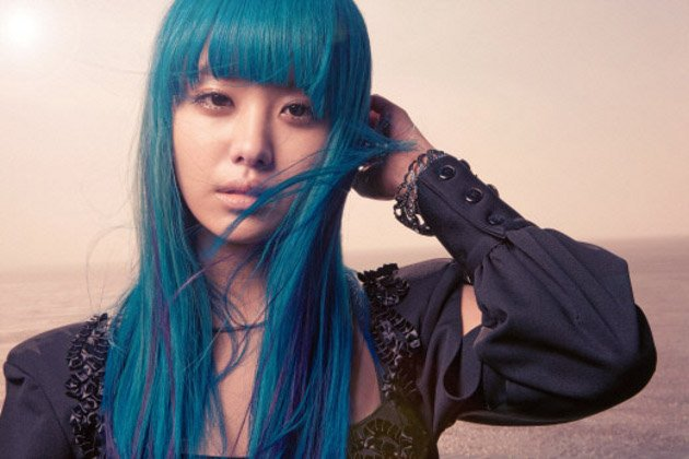 Korean Girl with Blue Hair