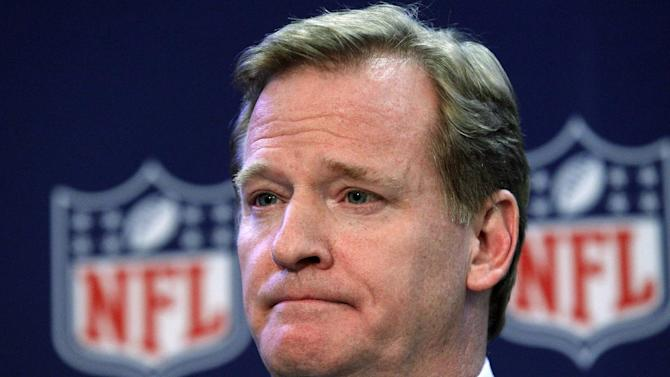 FILE - In this Dec. 12, 2012, file photo, NFL Commissioner Roger Goodell listens to a question during a news conference after the owners meeting in Irving, Texas. To Goodell's embarrassment, the Pro Bowl suffers from the problem facing every pro sport that stages an all-star contest these days: It is tough to tell whether anyone's heart is in the game anymore. (AP Photo/LM Otero, File)