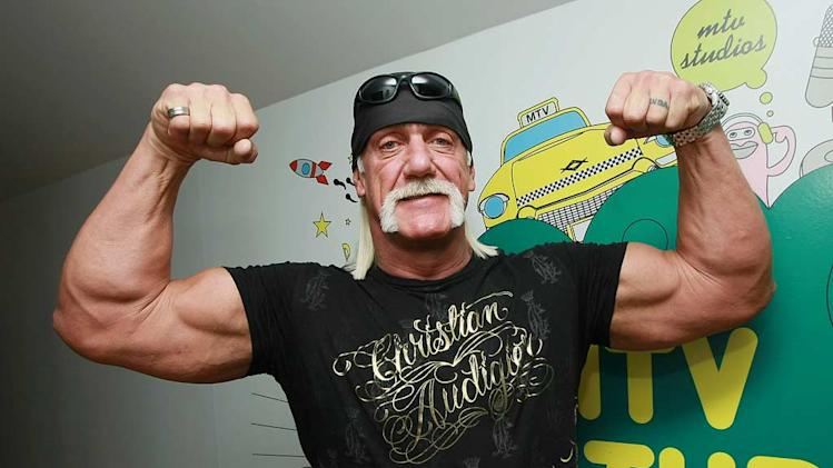 "Hulk Hogan visits MTV's ""TRL"" on January 7, 2008 at MTV Studios in Times Square, New York City."