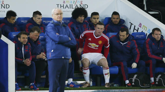 Manchester United's Wayne Rooney after he was substituted