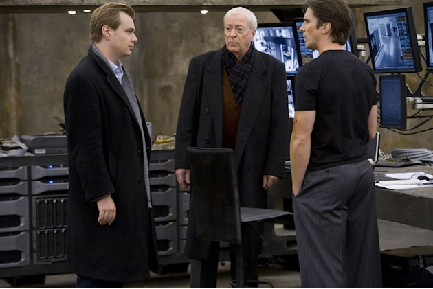Christopher Nolan Michael Caine Christian Bale Director Batman The Dark Knight Production Warner Brothers 2008