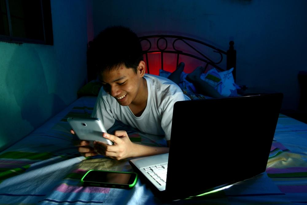 Screen time before bedtime could be especially damaging to preteens
