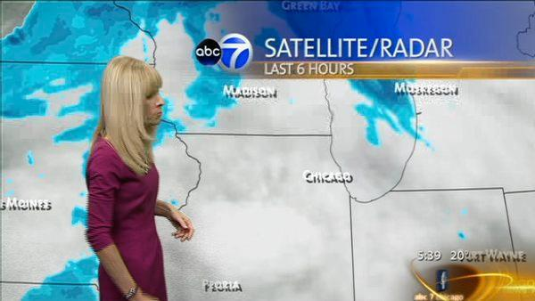 Chicago no-snow streak ends at 335 days with 1.1""